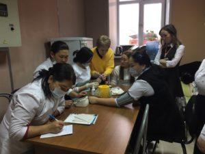 Сегодня специалисты Республиканского Центра медицинской профилактики  обследовали состояние здоровья сотрудников многофункционального центра г. 75dac4bda88